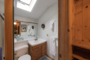 Bath with skylight off master bedroom